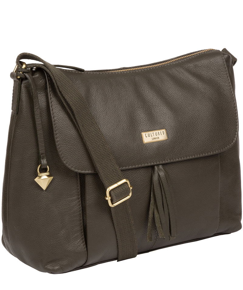 'Lily' Olive Leather Cross Body Bag image 3