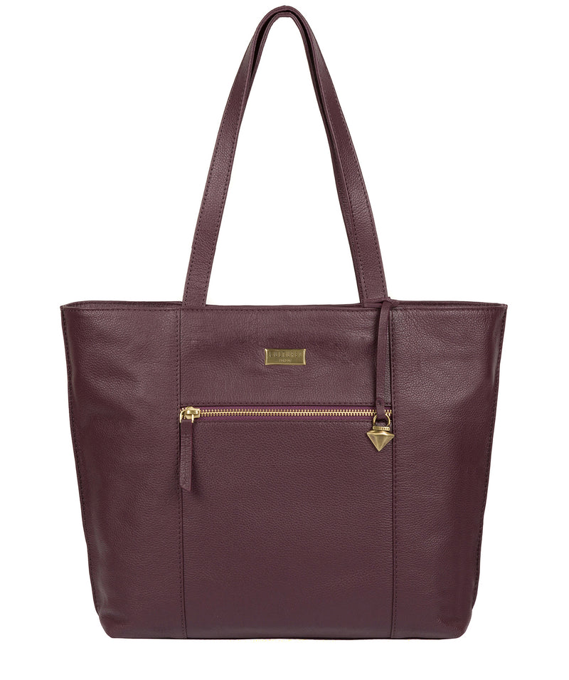 'Kimberly' Fig Leather Tote Bag image 1