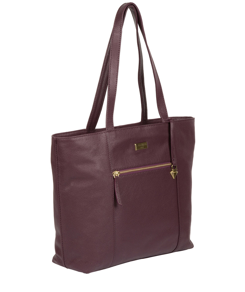 'Kimberly' Fig Leather Tote Bag image 3
