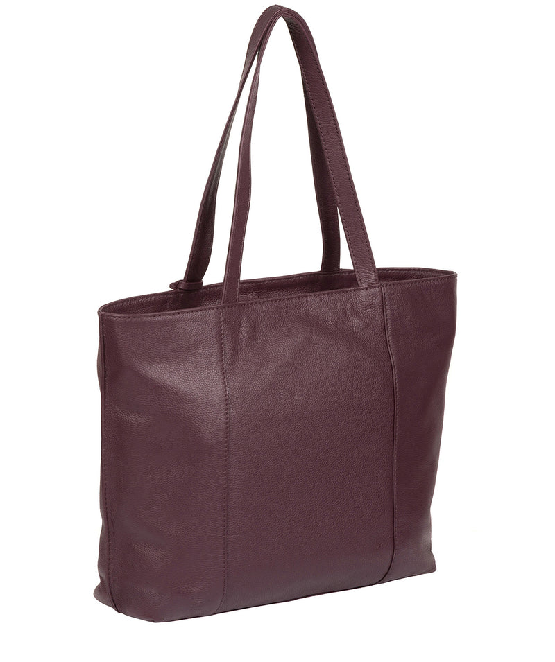 'Kimberly' Fig Leather Tote Bag image 6