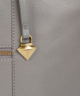 'Kimberly' Silver Grey Leather Tote Bag image 6