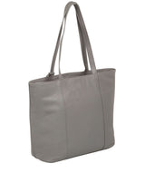 'Kimberly' Silver Grey Leather Tote Bag image 7