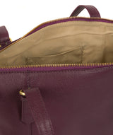 'Trinity' Fig Leather Tote Bag image 5