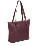 'Trinity' Fig Leather Tote Bag image 7