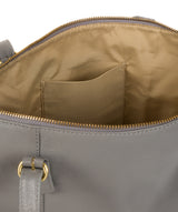 'Trinity' Silver Grey Leather Tote Bag image 5
