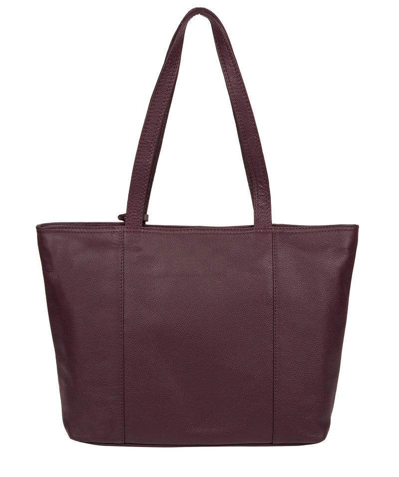 'Maya' Fig Leather Tote Bag image 3