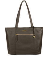 'Maya' Olive Leather Tote Bag image 1