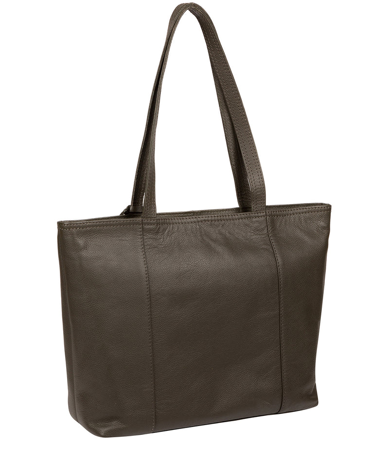 'Maya' Olive Leather Tote Bag image 3