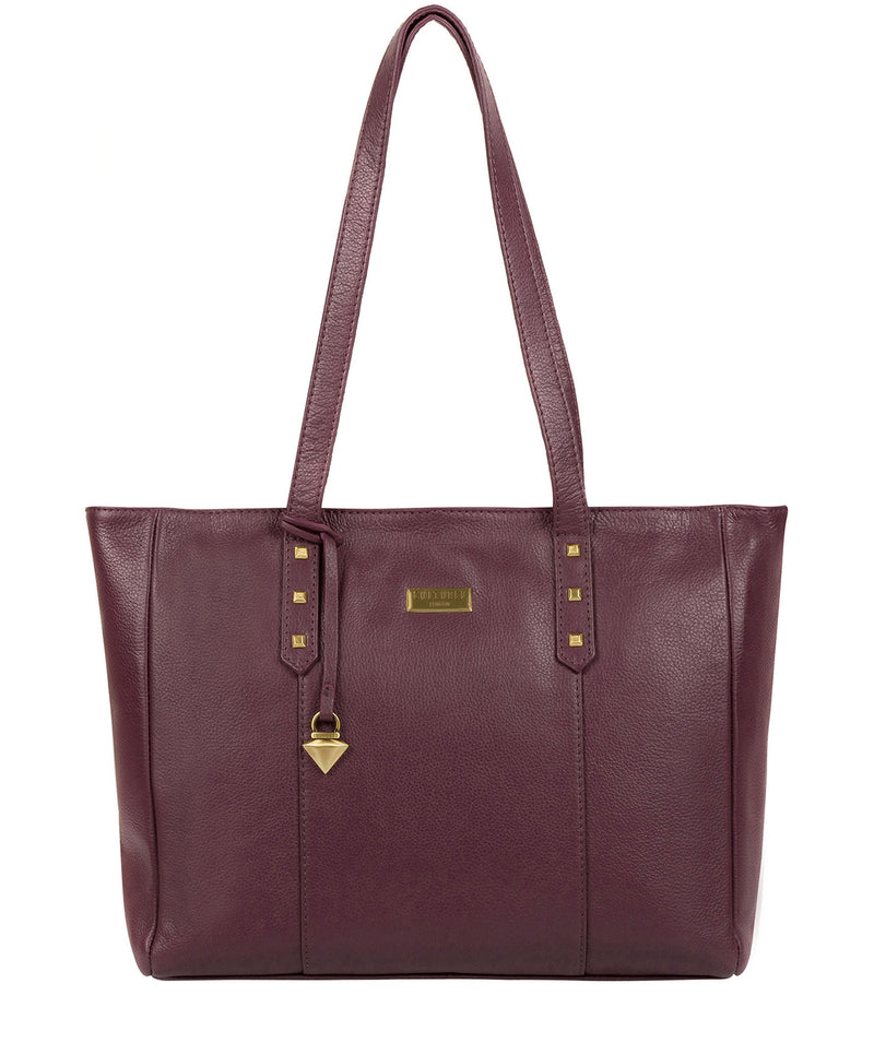'Avery' Fig Leather Tote Bag image 1