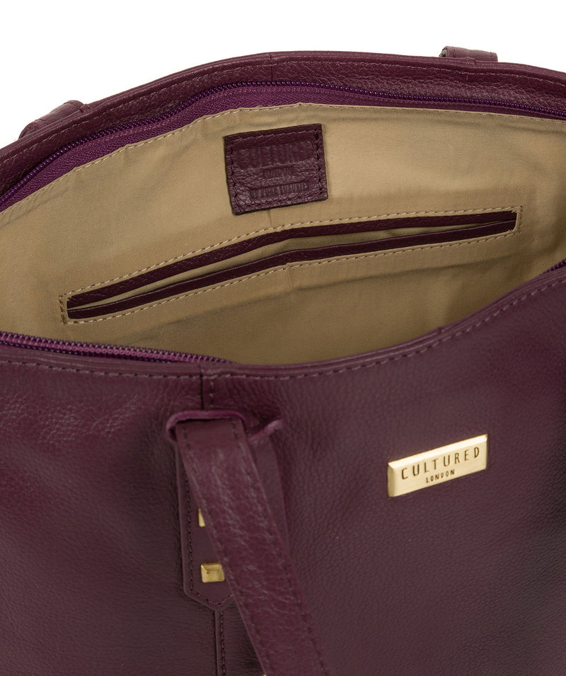 'Avery' Fig Leather Tote Bag image 4