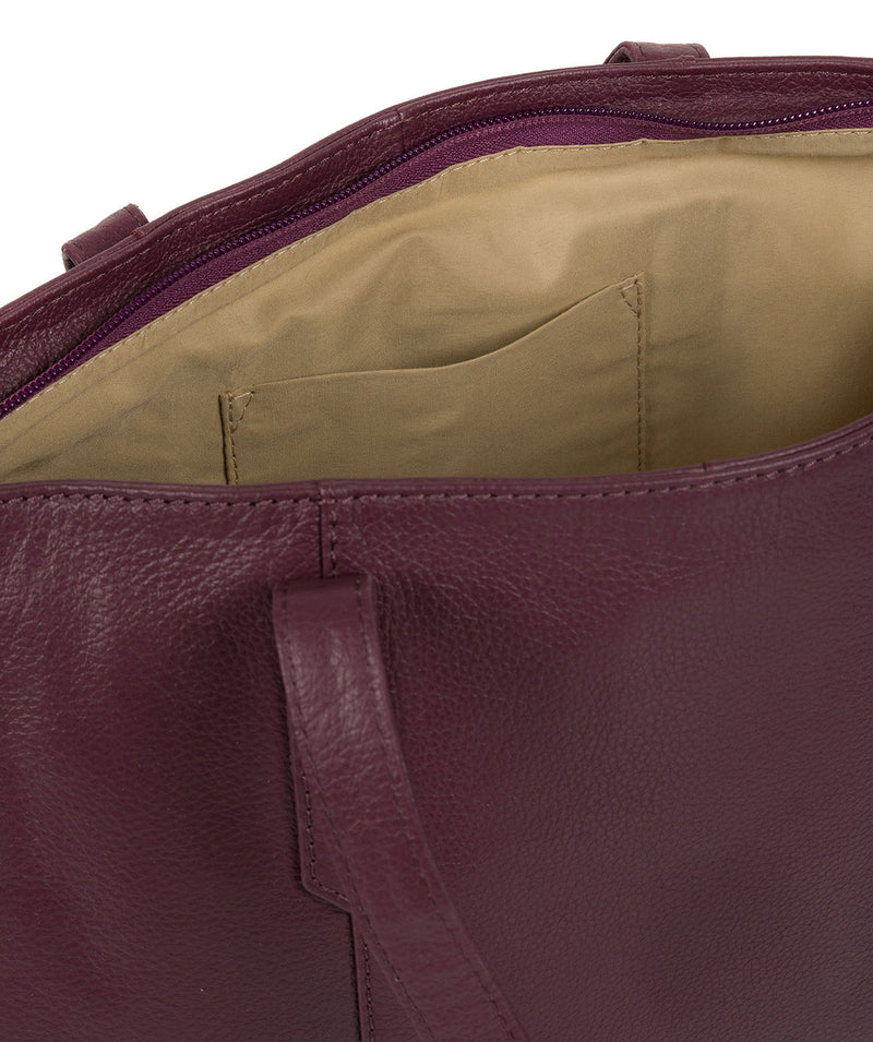 'Avery' Fig Leather Tote Bag image 5