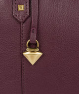 'Avery' Fig Leather Tote Bag image 6