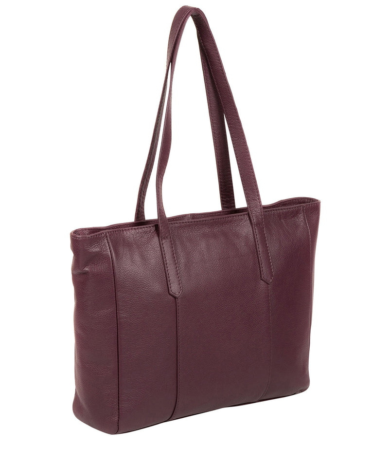 'Avery' Fig Leather Tote Bag image 7
