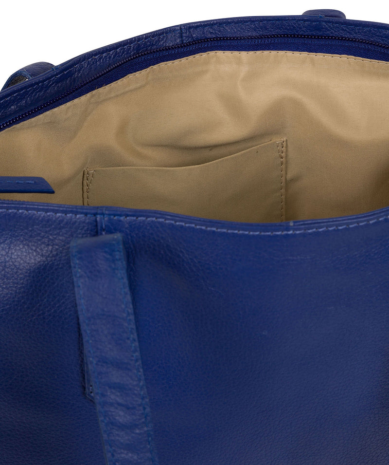 'Avery' Mazarine Blue Leather Tote Bag image 5
