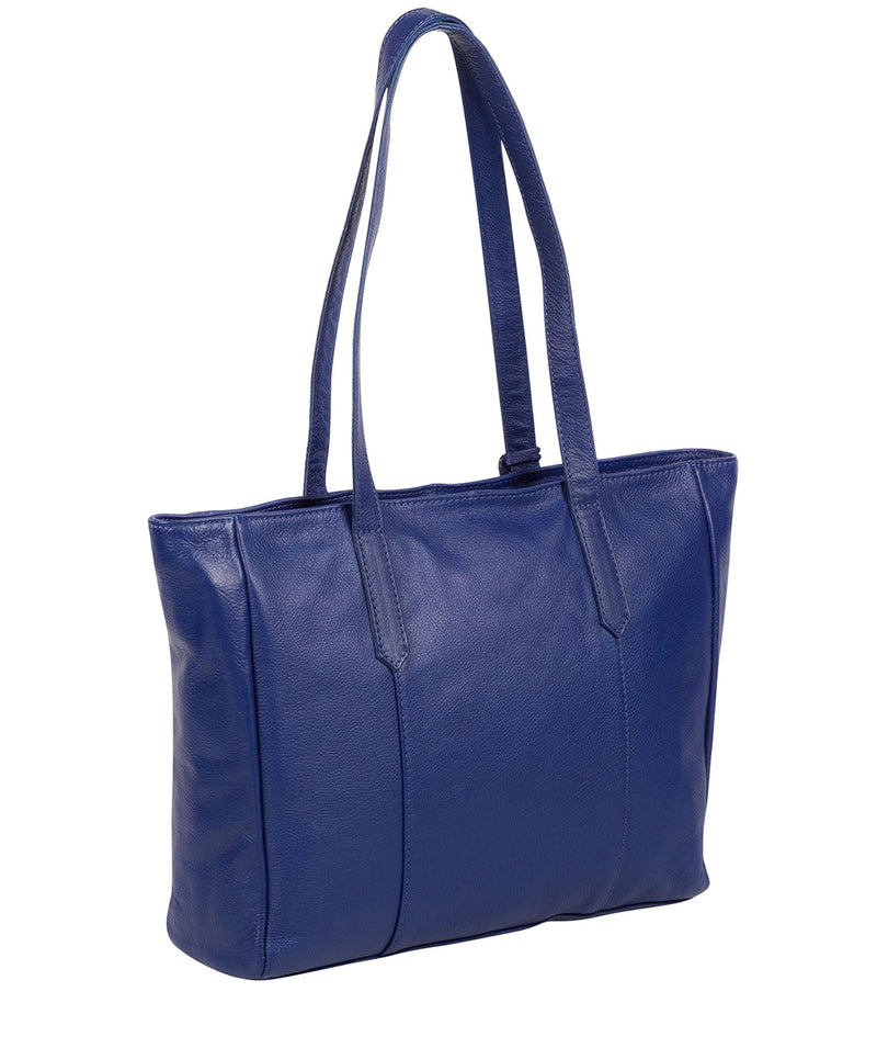 'Avery' Mazarine Blue Leather Tote Bag image 7