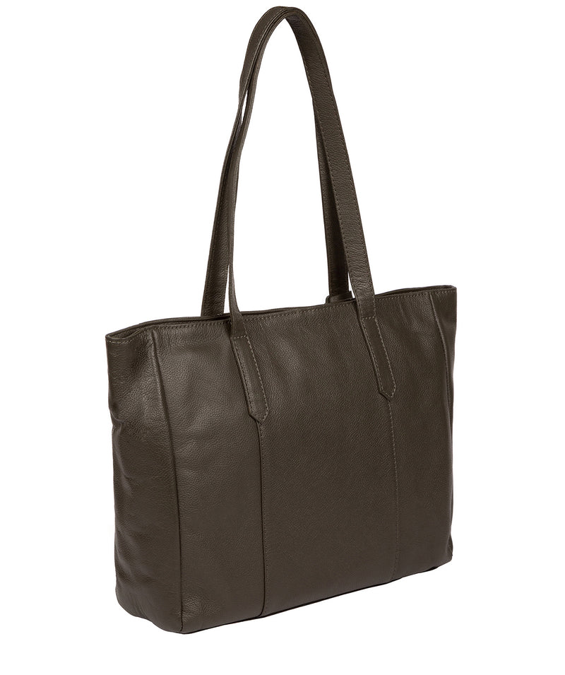 'Avery' Olive Leather Tote Bag image 3