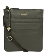 'Nevaeh' Olive Leather Cross Body Bag