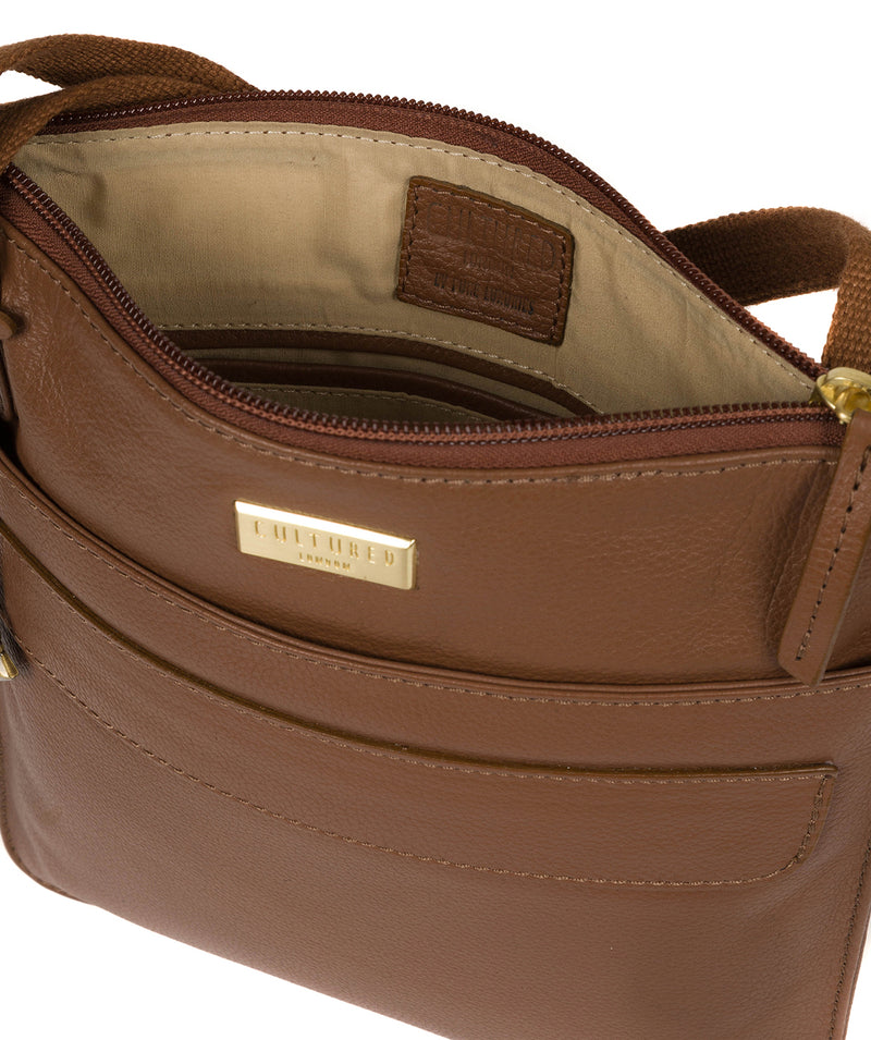 'Nevaeh' Tan Cross Body Bag image 4