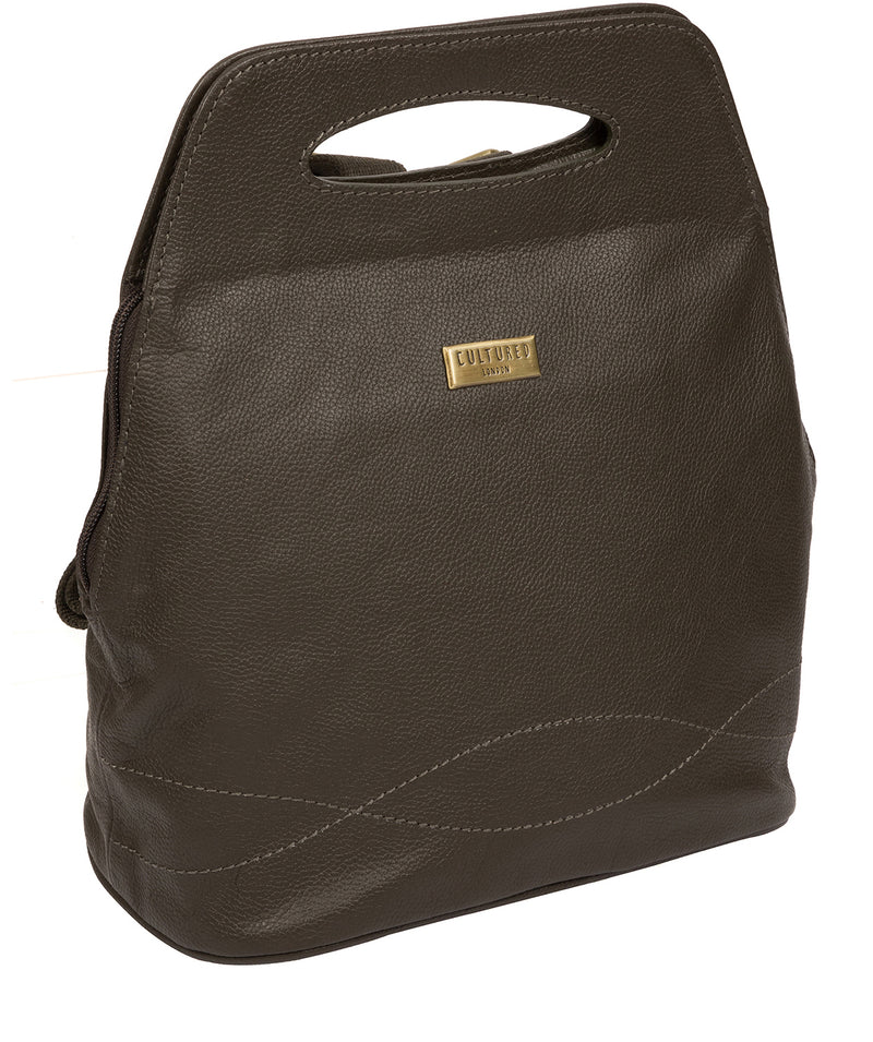 'Priya' Olive Leather Backpack