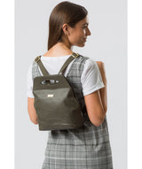 'Priya' Olive Leather Backpack image 2