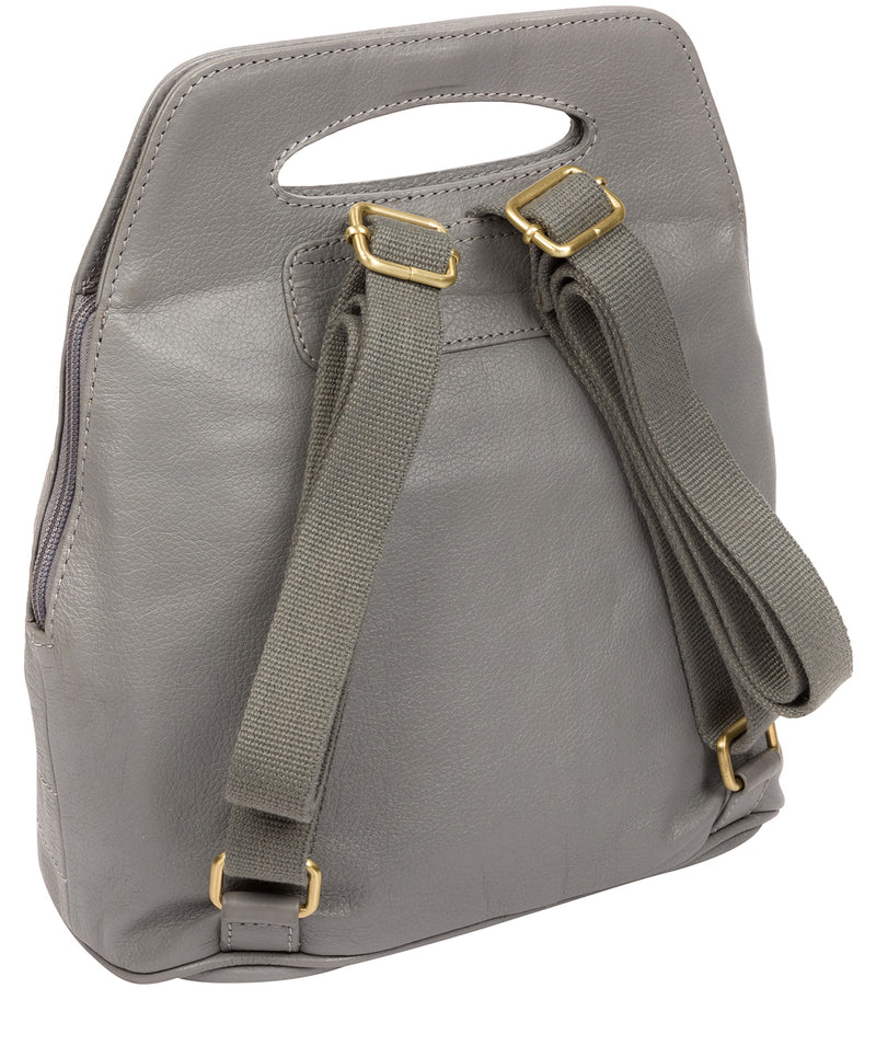 'Priya' Silver Grey Leather Backpack  image 3