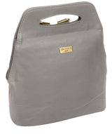 'Priya' Silver Grey Leather Backpack  image 5