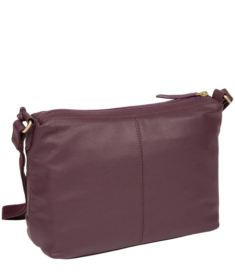 'Duana' Fig Leather Shoulder Bag