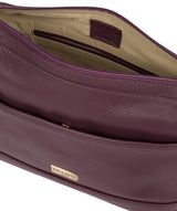 'Duana' Fig Leather Shoulder Bag image 4