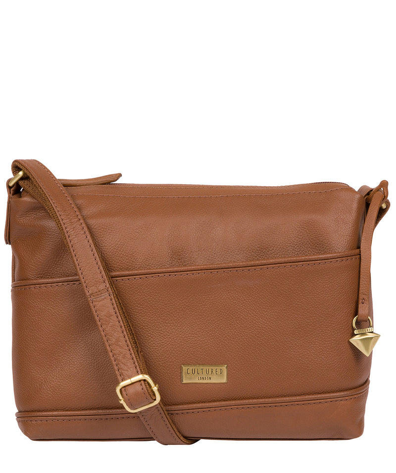 'Duana' Tan Leather Shoulder Bag Pure Luxuries London