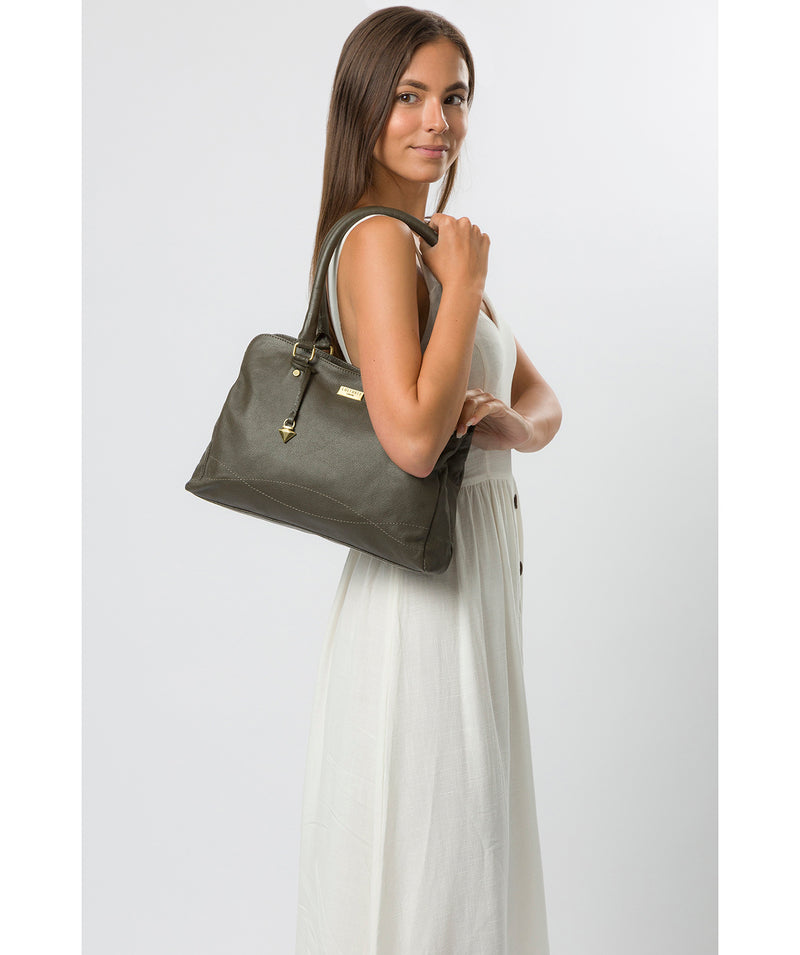 'Kiona' Olive Leather Handbag image 2