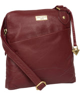 'Jarah' Ruby Red Leather Cross Body Bag image 5