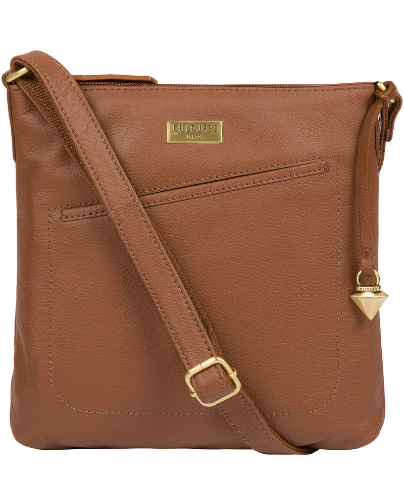 'Bronwyn' Tan Leather Cross Body Bag image 1