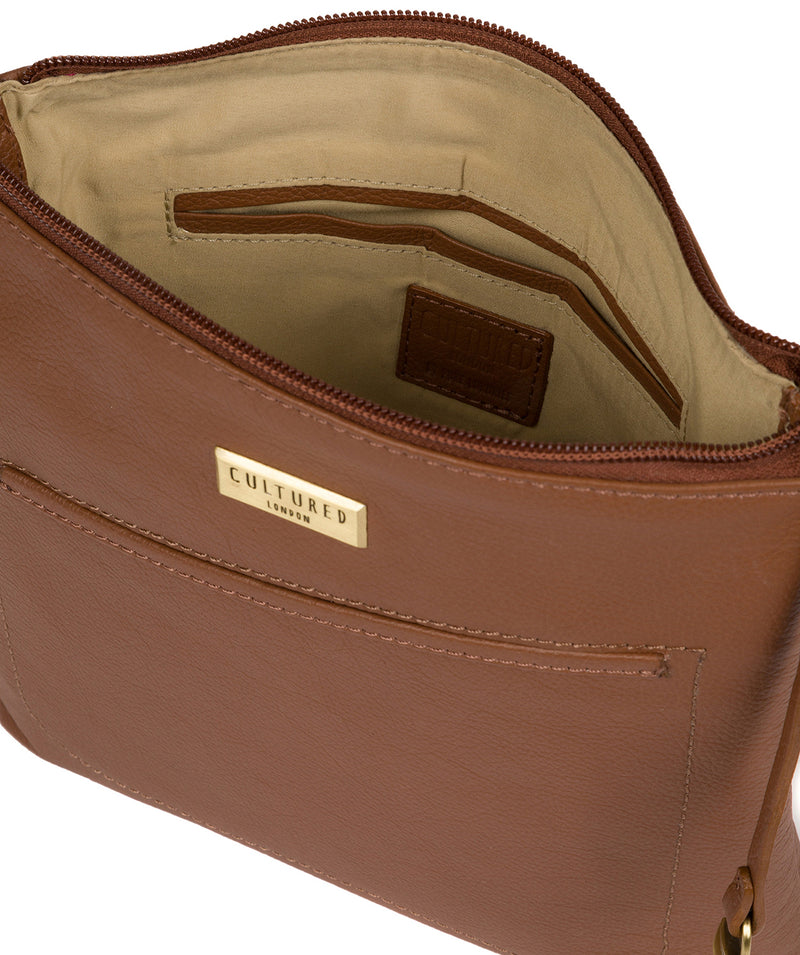 'Bronwyn' Tan Leather Cross Body Bag image 4