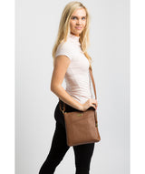 'Bronwyn' Tan Leather Cross Body Bag Pure Luxuries London