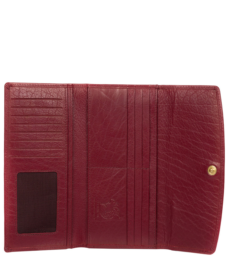 'Ollie' Deep Red Leather RFID Purse image 3