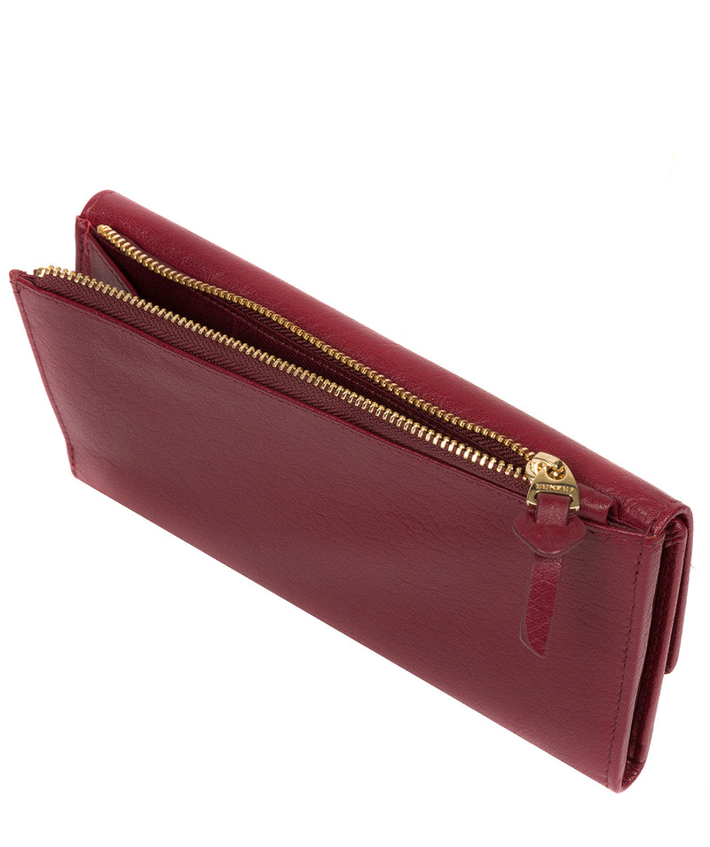 'Ollie' Deep Red Leather RFID Purse image 4