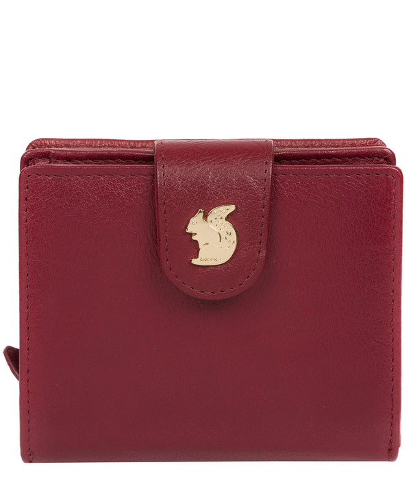 'Azaria' Deep Red Leather RFID Purse image 1
