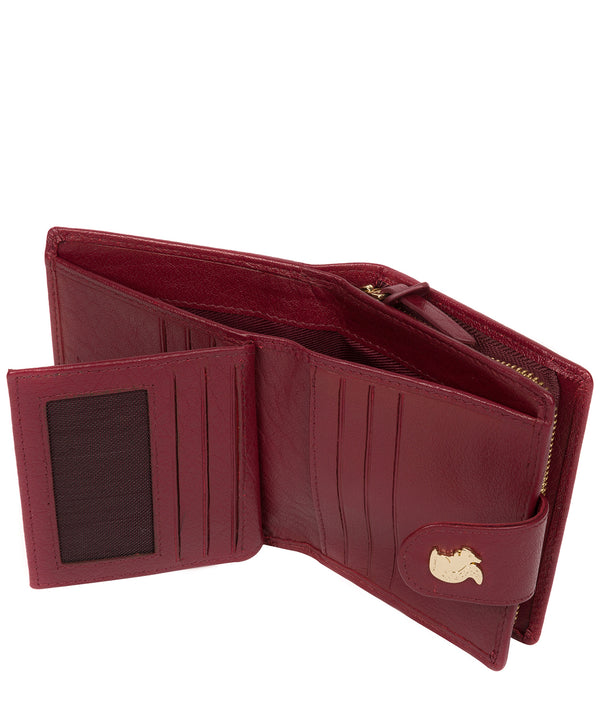 'Azaria' Deep Red Leather RFID Purse image 3