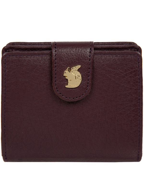 'Azaria' Plum Leather RFID Purse image 1