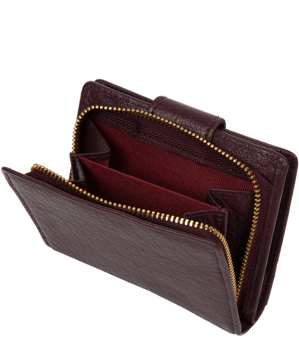 'Azaria' Plum Leather RFID Purse image 3