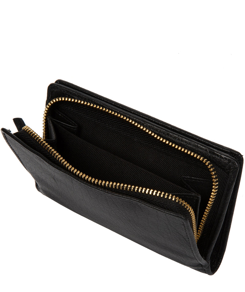 'Fran' Black Leather RFID Purse image 3