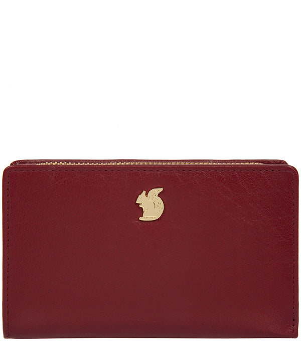'Fran' Deep Red Leather RFID Purse image 1