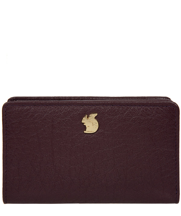 'Fran' Plum Leather RFID Purse image 1