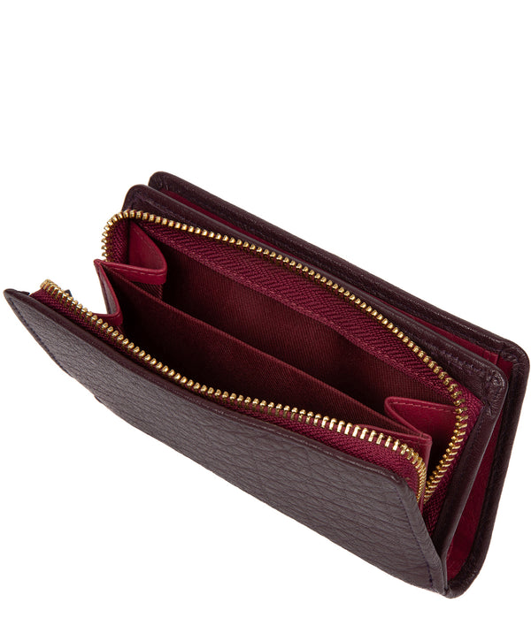 'Fran' Plum Leather RFID Purse image 3