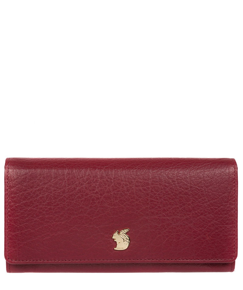 'Arabella' Deep Red Leather RFID Purse image 1