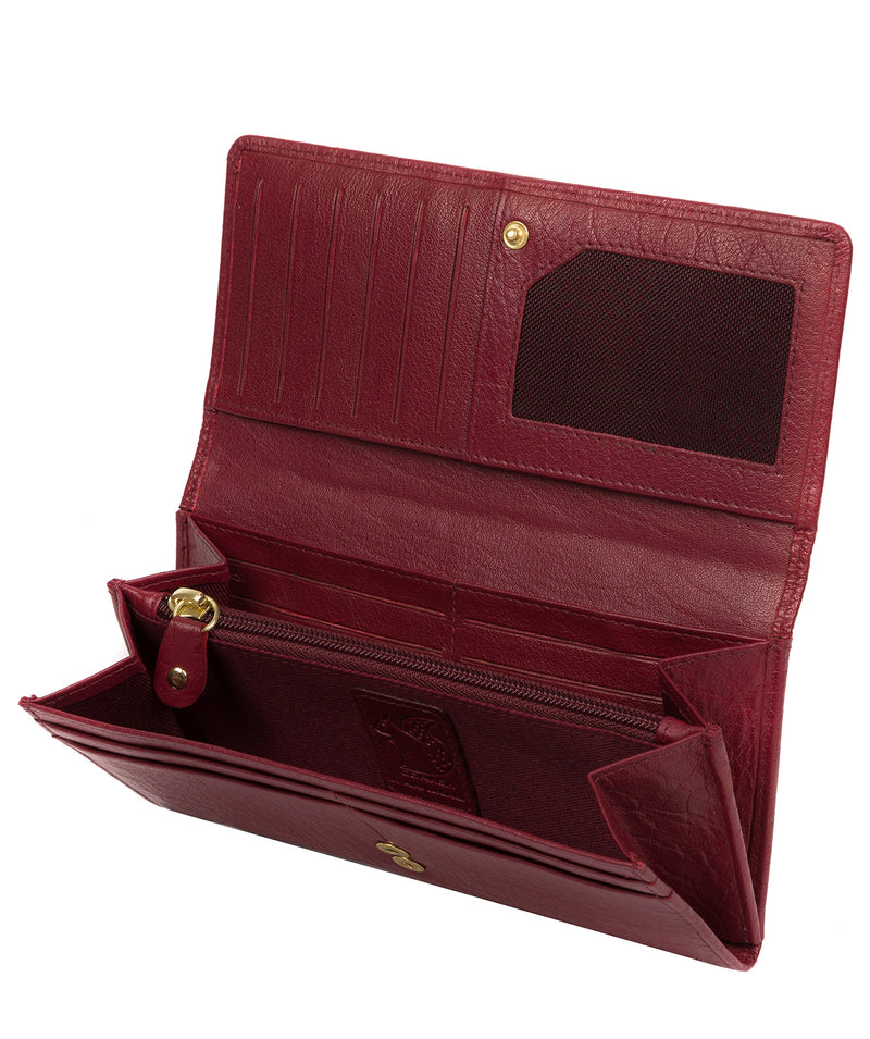 'Arabella' Deep Red Leather RFID Purse image 3