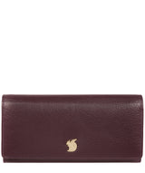 'Arabella' Plum Leather RFID Purse image 1
