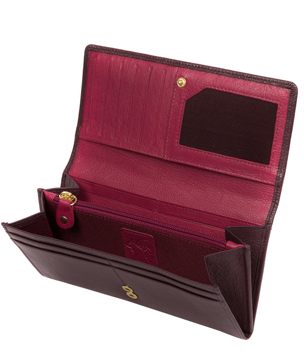 'Arabella' Plum Leather RFID Purse image 3