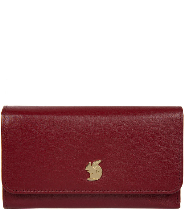 'Colleen' Deep Red Leather RFID Purse image 1