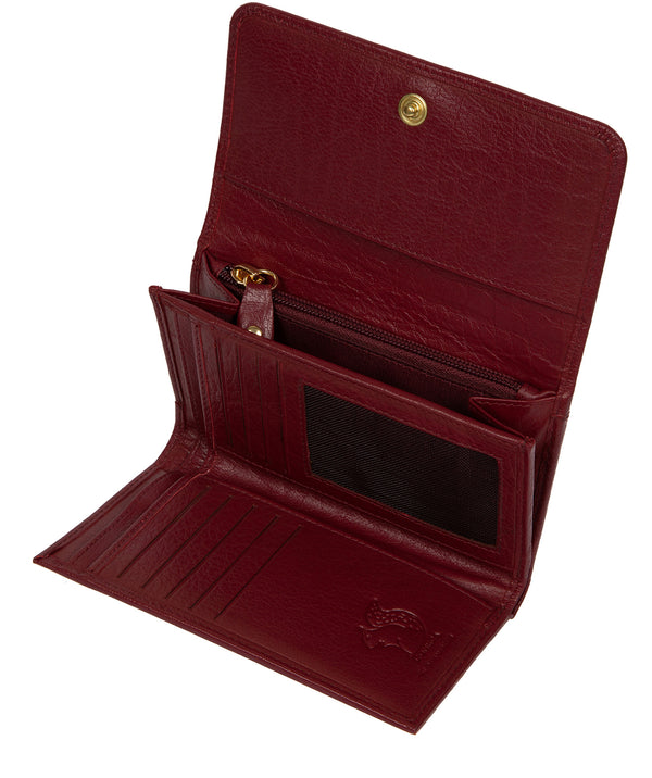 'Colleen' Deep Red Leather RFID Purse image 3